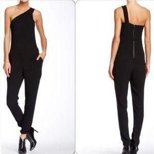 *EUC* BCBGeneration Black One-Shoulder Jumpsuit
